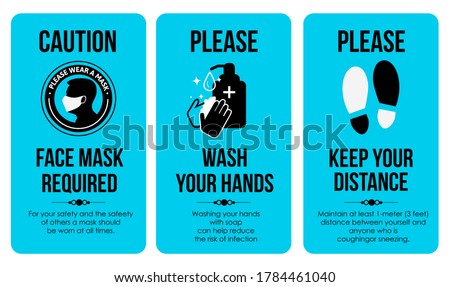 covid sign poster templates