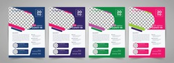 COVID 19 virtual conference flyer template design, Medical product sale, coronavirus COVID-19 flyer template, Flyer, infographic, modern layout, size A4, Magazine, Poster, Corporate Presentation, EPS