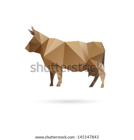 Cow abstract isolated on a white backgrounds