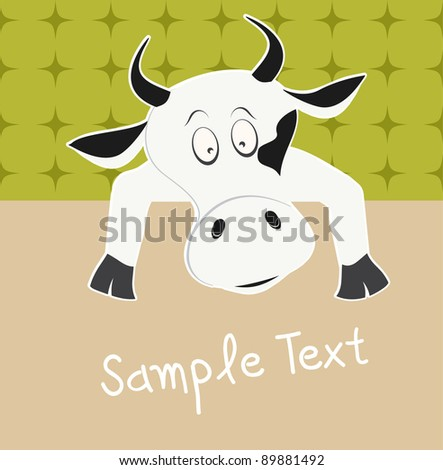 cow and text box