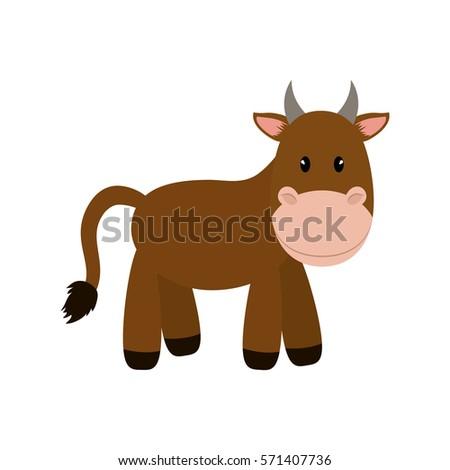 Cow animal cartoon icon vector illustration graphic design #571407736