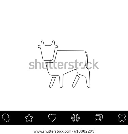 cow black outline vector icon