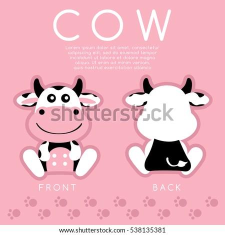 cow   cute animal   vector