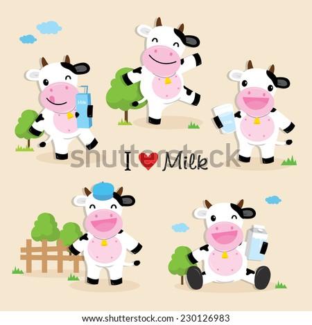 cow cute character cartoon