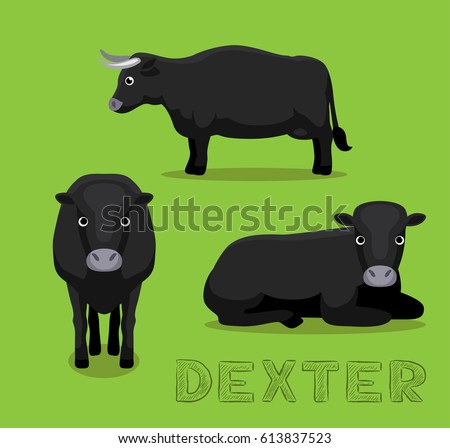cow dexter cartoon vector