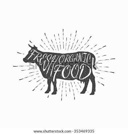 cow farm animal icon  butchery