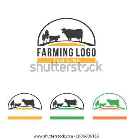 Cow Farm Farm Symbol Illustration