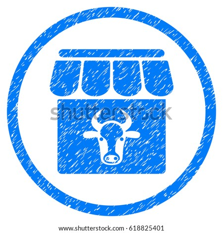 cow farm grainy textured icon...