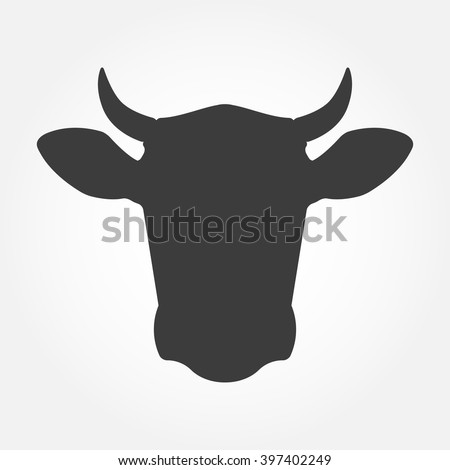 vector images illustrations and cliparts cow head icon