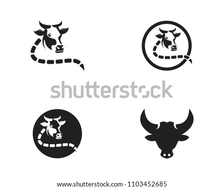Cow head logo  vector template