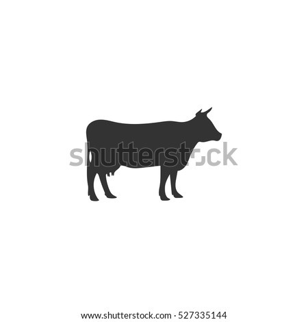 cow icon flat illustration