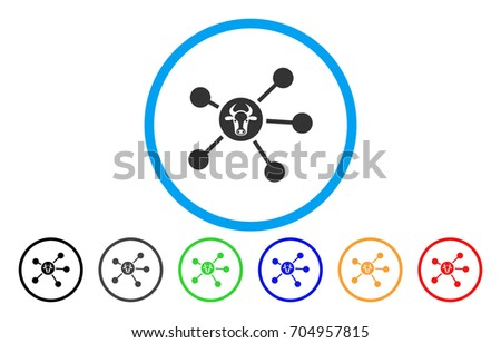 cow links vector rounded icon