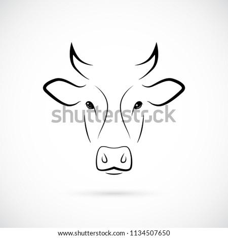 cow muzzle silhouette mammal