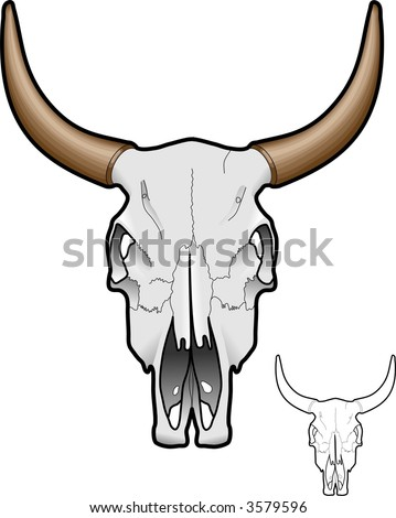 stock vector : Cow Skull