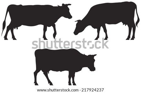 cow silhouette vector download free vector art stock graphics rh vecteezy com dairy cow silhouette vector beef cow silhouette vector