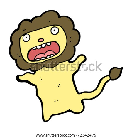 Lion Cartoon Character on Cowardly Lion Cartoon Stock Vector 72342496   Shutterstock