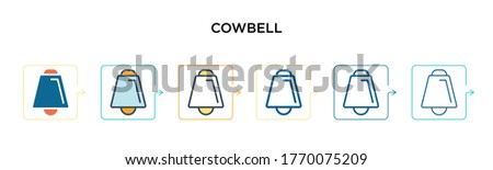 cowbell vector icon in 6