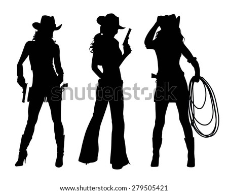 cowgirl silhouette vectors - download free vector art, stock