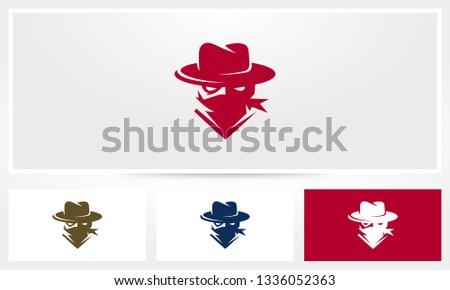 Cowboy Bandit Logo Photo stock ©