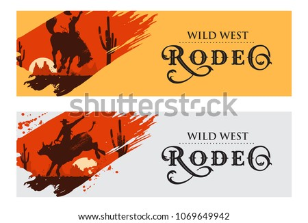 cowboy banners  rodeo cowboy...