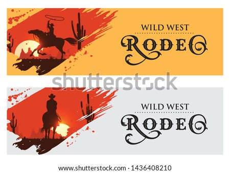 cowboy banners  rodeo cowboy