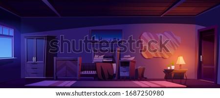 cowboy bedroom interior at