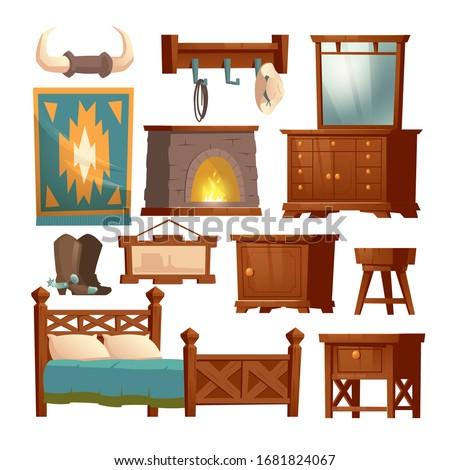 cowboy bedroom interior set
