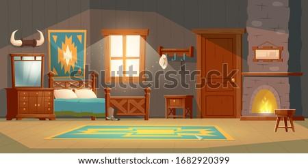 cowboy bedroom interior with