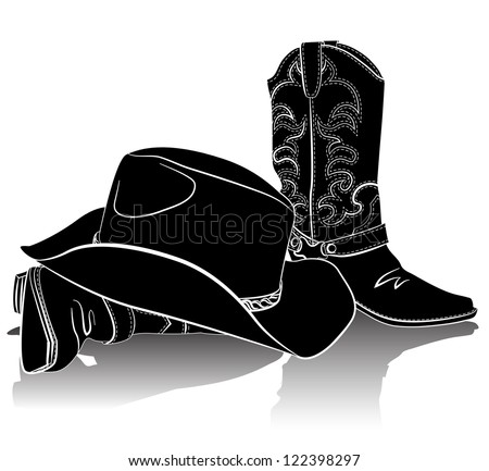 Cowboy Hat And Boots Background Cowboy Boots And Hat