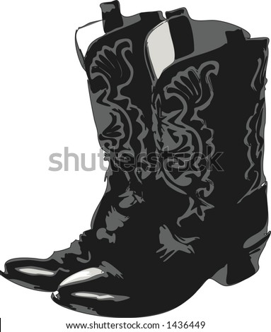 Cowboy boots illustration