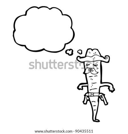 cowboy carrot cartoon