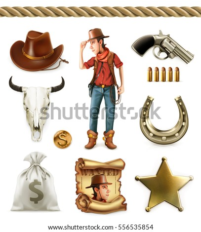 cowboy cartoon character and