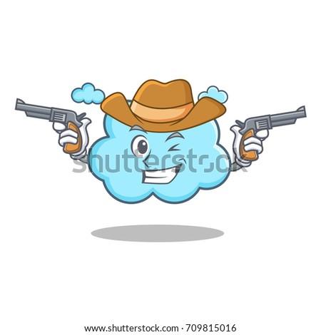 cowboy cute cloud character