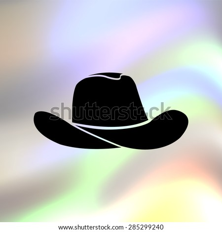 cowboy hat black vector icon