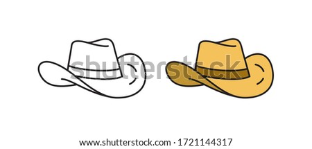 Cowboy hat icon. Linear vector icon in a flat style. Stock photo ©