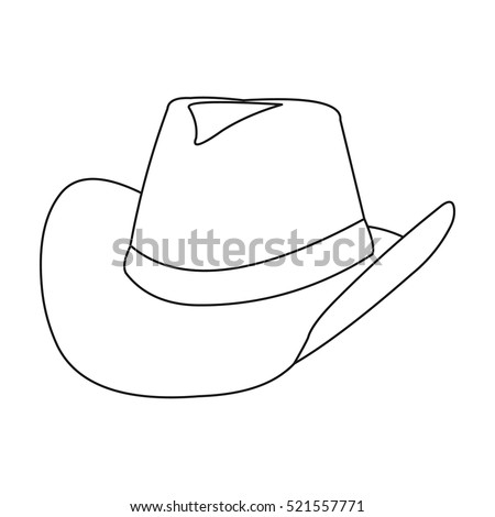 cowboy hat icon outline singe