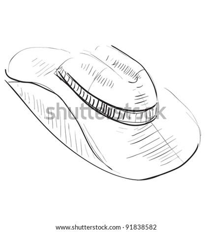 Cowboy Hat Sketch Cowboy Hat Sketch Icon