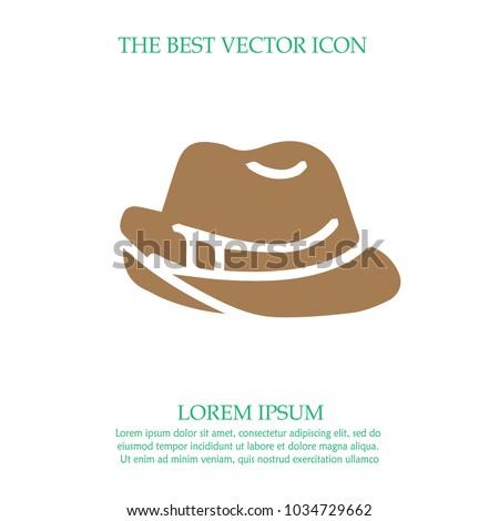 Cowboy hat vector icon eps 10. Western symbol.