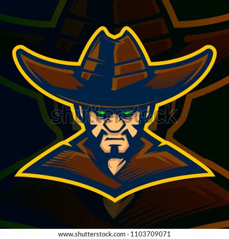 cowboy mascot illustration