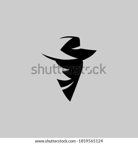 Cowboy masked outlaw portrait symbol on gray backdrop. Design element Foto d'archivio ©