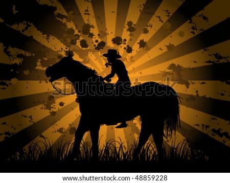 cowboy on field
