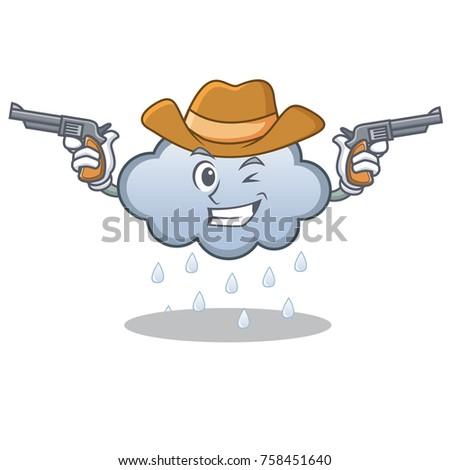 cowboy rain cloud character