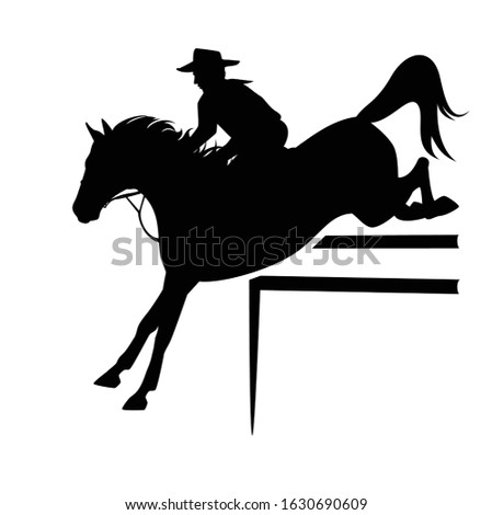 cowboy rider riding horse