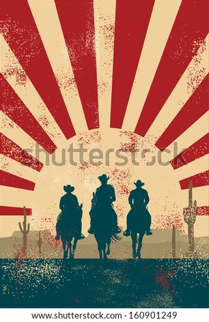cowboy silhouette background