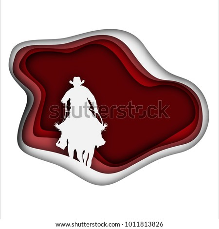 cowboy silhouette on a horse