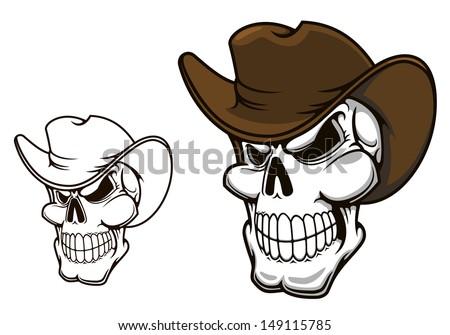 Skull Cowboy Hat Cowboy Skull in Hat For Mascot