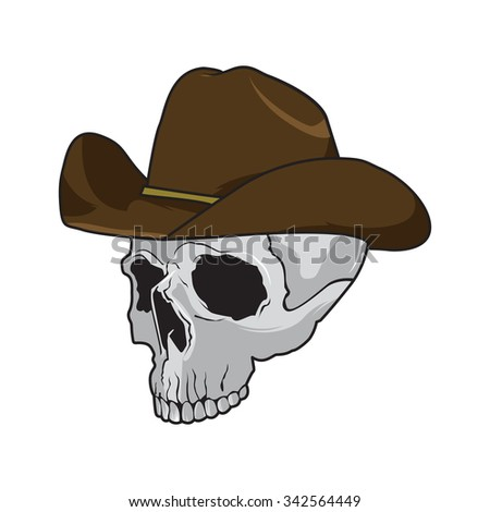 cowboy skull wearing a stylish