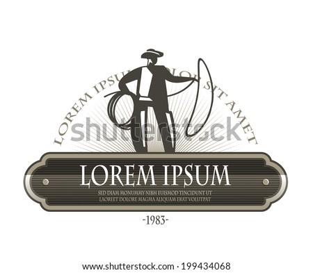 cowboy symbol vector format