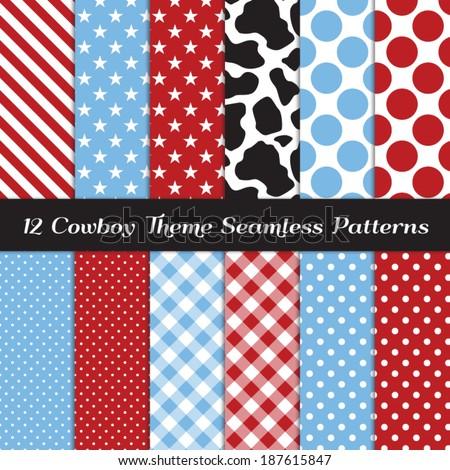 cowboy theme seamless pattern
