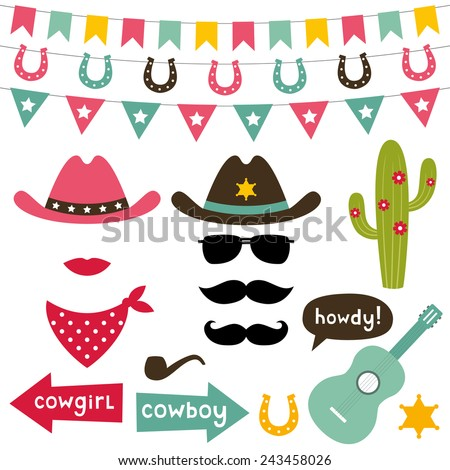 cowboy vector design elements